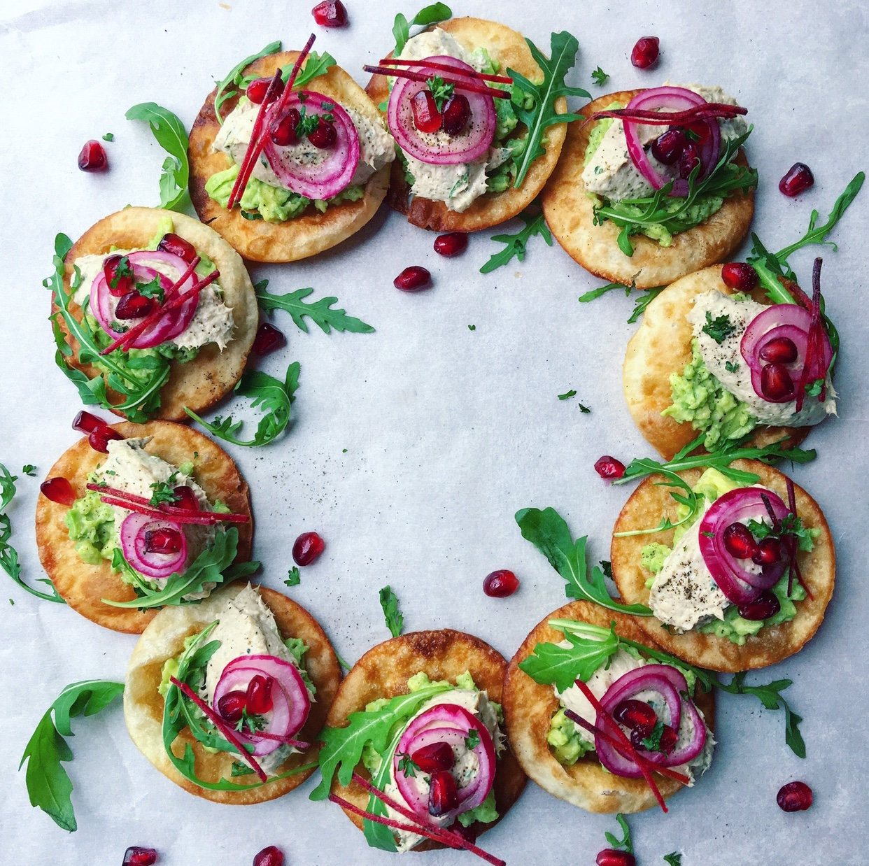 Crispy fried tortillas packed with a fresh mackerel mousse.