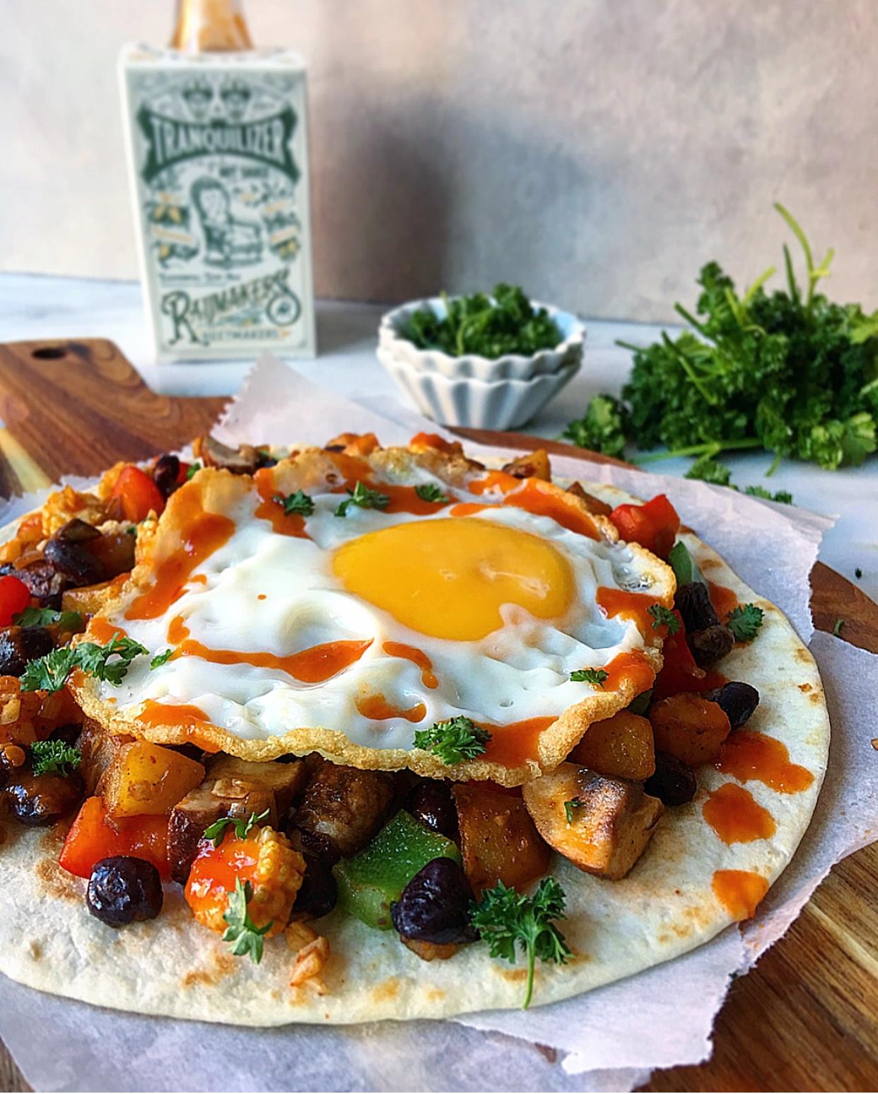 Vaderdagontbijt tip - spicy breakfast taco