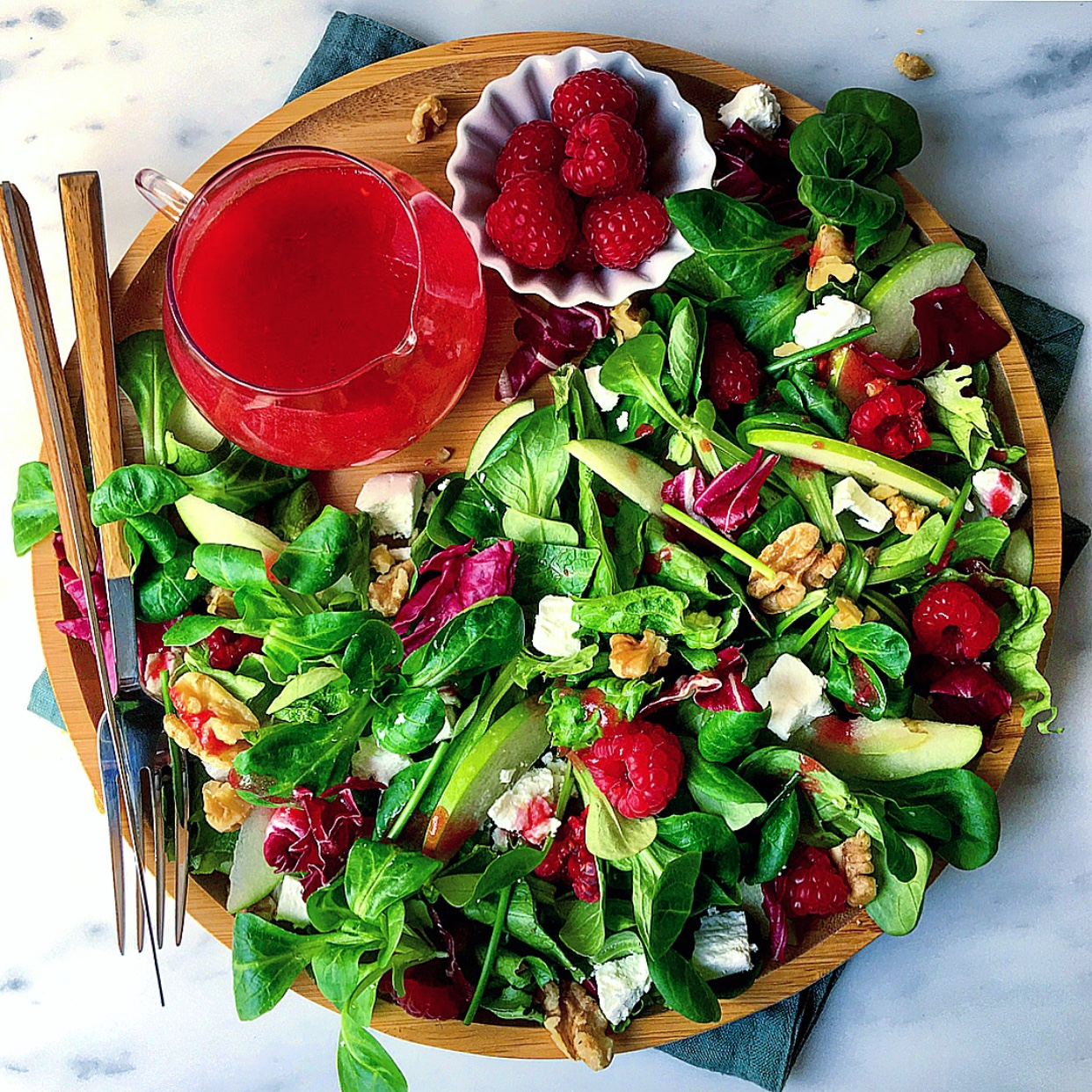 Summer is here so why not add fruits in your salad and dressings!