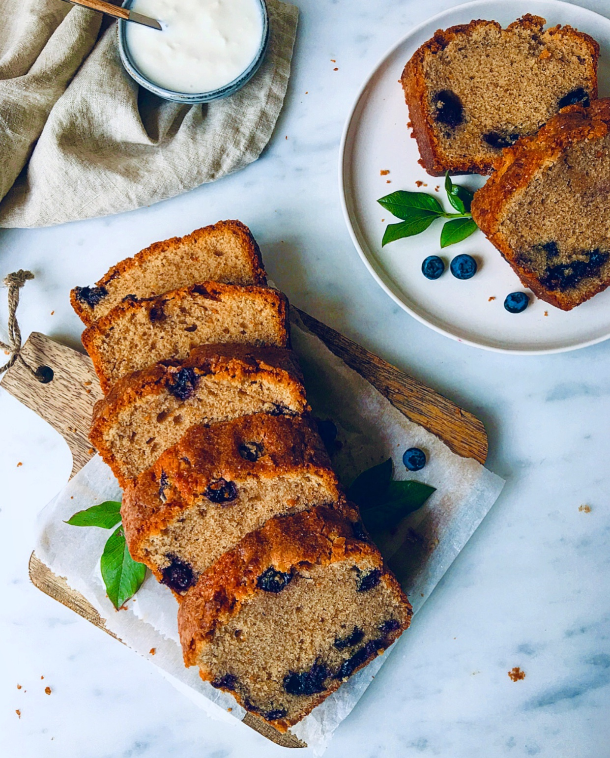 This Blueberry Cinnamon Loaf Cake makes a perfect tea treat or snack!