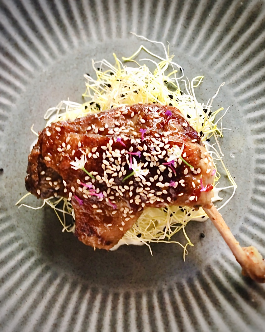 Duck Leg w/ Ginger and Chili at Restaurant Oogst