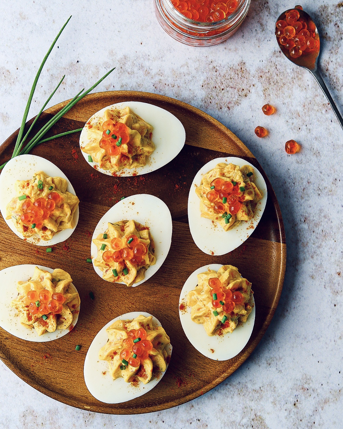 These Deviled Eggs w/ Smoked Salmon are perfect for Easter or as appetizer!